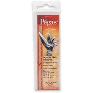 Pegas Double Skip Reverse Tooth Scroll Saw Blade