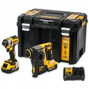 DeWALT DCK2532P2 Brushless Impact/SDS Drill Kit 18V
