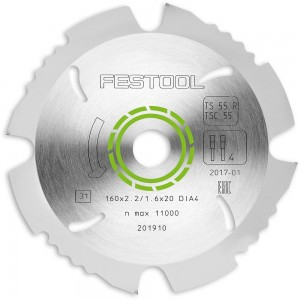 Festool Diamond Saw Blade (PCD) 160mm TS55/TSC55