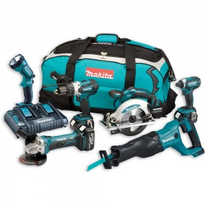 Makita DLX6072PT 6 Piece Kit 18V (3 x 5.0Ah)