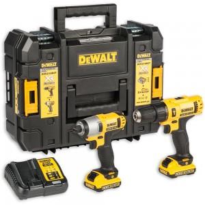 DeWALT DCK218D2T Combi Drill & Impact Driver Kit 10.8V (2x 2.0Ah)