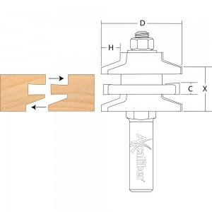 Axcaliber Stile & Rail Cutter (Bevel)