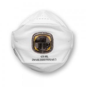 JSP SpringFit™ Fold Flat Valved Respirator FFP2 (Pkt 10)