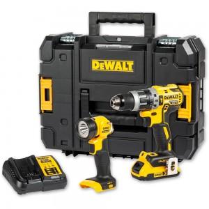DeWALT DCD796D1 Brushless Combi  & Torch 18V (2.0Ah)