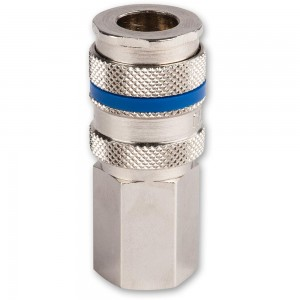 """Axminster Quick Release Airline Fitting 1/4"""" BSPT Female to Euro Female"""
