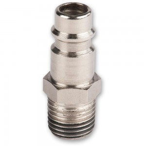 """Axminster Quick Release Airline Fitting 1/4"""" BSPT Male to Euro Male Bayonet"""