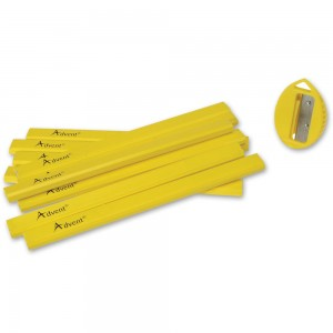 Advent Carpenters Pencils With Sharpener (Pack of 10)