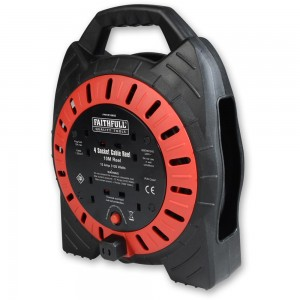 Faithfull 10m 13A Cable Reel