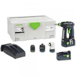 Festool C18 Li 5.2 SET Drill Driver (TCL) 18V (5.2Ah)