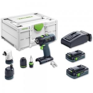 Festool T18+3 Li 5.2 SET Drill Driver (TCL) 18V (5.2Ah)