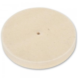 Axminster Craft 150mm Felt Wheel Plain Bore - Medium