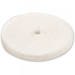 Axminster Craft 150mm Stitched Polishing Mop Plain Bore