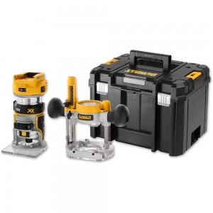 "DeWALT DCW604NT Twin Base 1/4"" Router & TSTAK 18V (Body Only)"
