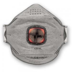 JSP SpringFit™ Fold Flat Valved Respirator FFP3 Carbon Layer (Pkt 10)