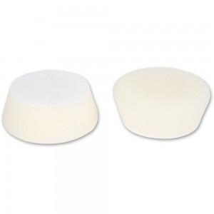 Proxxon Hard White Polishing Sponges (Pkt 2)