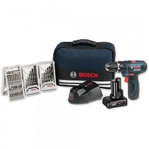 Bosch GSB12V-15 Combi with Bag, 2.0Ah & 4.0Ah Batteries & Accessories