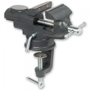 Axminster Trade Vices G-Clamp Swivel Base Bench Vice 62mm