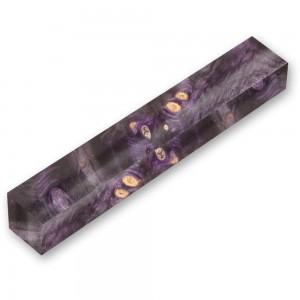 Double Dyed Stabilised Buckeye Burl Violet & Black Pen Blank