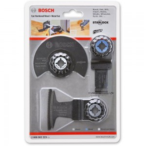 Bosch Starlock Wood & Metal Blade 3 Piece Set