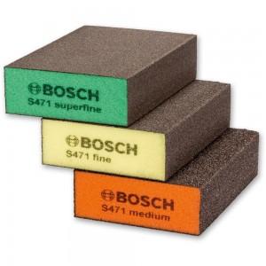 Bosch Abrasive Sponges XFine-Fine-Med Set Of 3