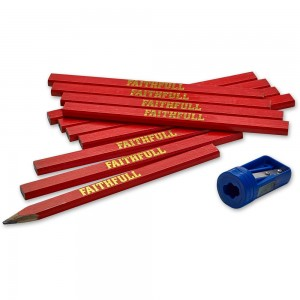 Faithfull 12 Pencils With Pencil Lanyard