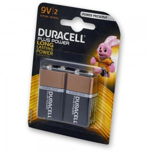 Duracell 9V Battery Twin Pack