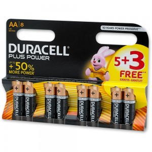 Duracell 5+3 AA Pack
