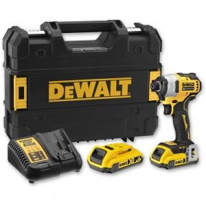 DeWALT DCF809D2 Impact Driver Kit (2 x 2.0Ah) 18V