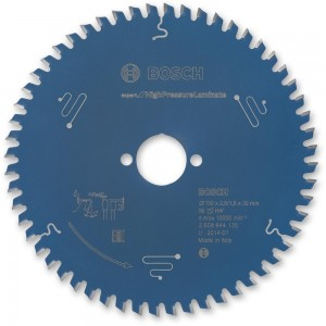 Bosch High Pressure Laminate Saw Blade 190mm x 56T