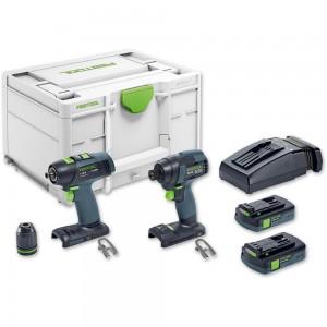 Festool TID18C 3,1-Set T18 Drill Driver & Impact Driver Kit 18V