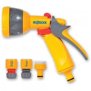 Hozelock 2347 Multi-Pattern Spray Gun Starter Set with Fittings