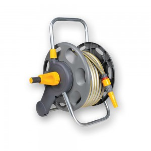 Hozelock 2431 Assembled Hose Reel, 25 Metres of Hose & Fittings