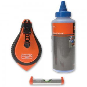 Bahco Blue Chalk, Chalk Line, Line Level Set