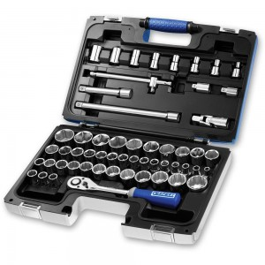 "Britool 55 Piece Metric Socket Set (1/2"")"