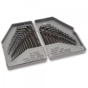 Faithfull 30 Piece Metric & Imperial Hex Key Set