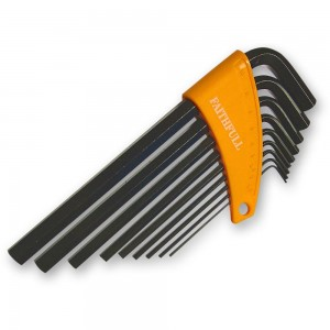Faithfull 9 Piece Long Arm Metric Hex Key Set