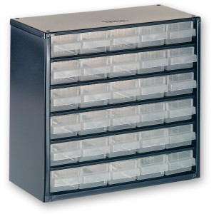 Raaco 624-01 24 Drawer Metal Cabinet