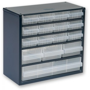 Raaco 616-123 16 Drawer Metal Cabinet