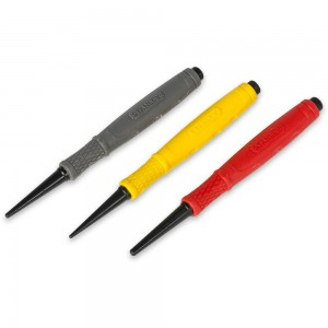 Stanley Dynagrip 3 Piece Nail Punch Set
