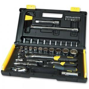 "Stanley 50 Piece Microtough Socket Set (1/4"" & 1/2"")"