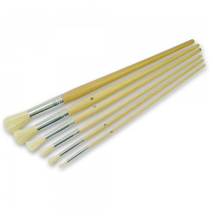 Faithfull 6 Piece Round Fitch Brush Set