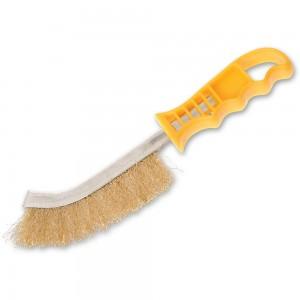 Faithfull Wire Scratch Brush Brass Yellow Handle
