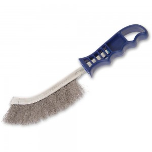 Faithfull Wire Scratch Brush Stainless Steel Blue Handle