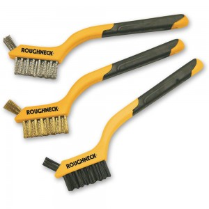 Roughneck 3 Piece Mini Wire Brush Set