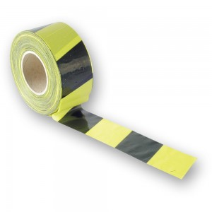 Faithfull Barrier Tape Black & Yellow