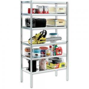 Raaco Galvanised Shelving With 6 Shelves