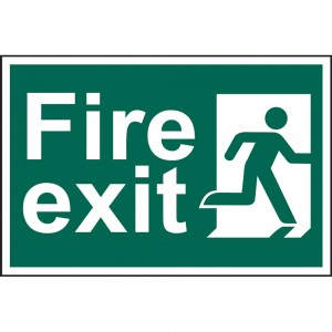 Scan Fire Exit Man Running Right Notice
