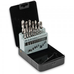 19 Piece High Speed Steel Ground Drill Bit Set