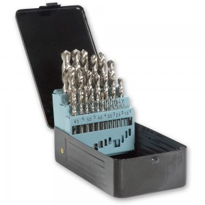 25 Piece High Speed Steel Ground Drill Bit Set