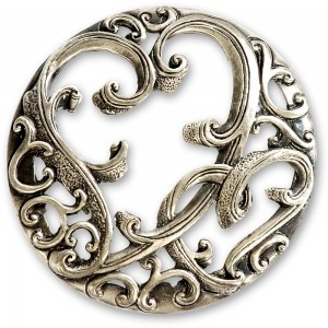 Craftprokits Pewter Lid - Filigree Heart